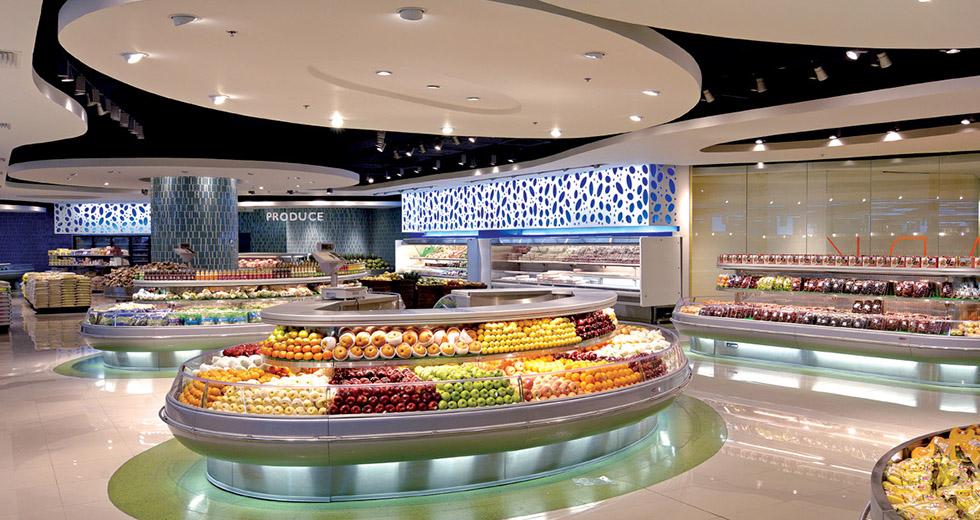 超级市场LED照明实例