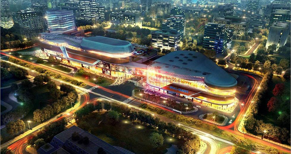 北京橡树湾五彩城照明设计